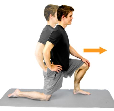 The kneeling hip flexor stretch is a simple way to stretch a commonly tight muscle.
